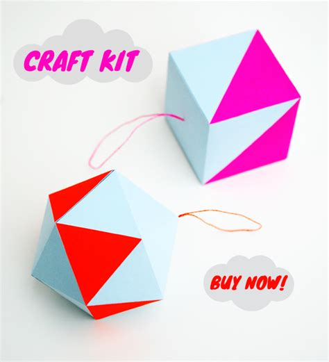 Paper Craft Kits - paper craft kit pastel neon decorations mini eco