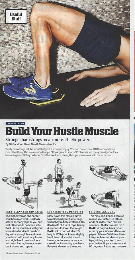 hamstring workout from bjgaddour in menshealthmag
