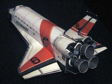 Papercraft Space Shuttle - 2bbond 2bmoonraker 2b6 2bshuttle 2bpapercraft jpg