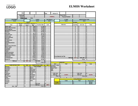 Construction Estimating Worksheets Excel by Welcome To Excelville