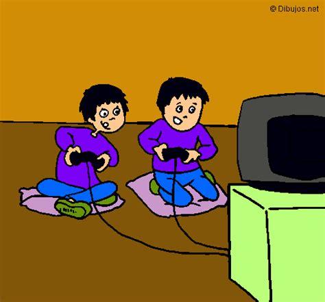 dibujos de niños jugando xbox dibujo de ni 241 os jugando pintado por play en dibujos net el
