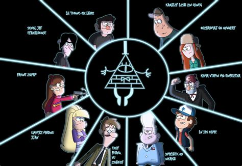 gravity falls bill cipher wheel bill cipher quotes quotesgram