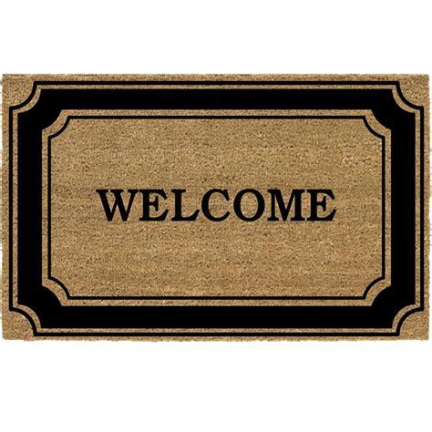 door welcome mat trafficmaster black border 24 in x 36 in coir welcome