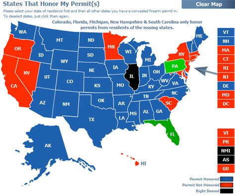 florida ccw reciprocity map research one must do before traveling with a gun the