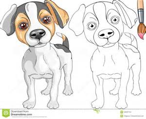 coloring book jack russell terrier stock images image 28225794