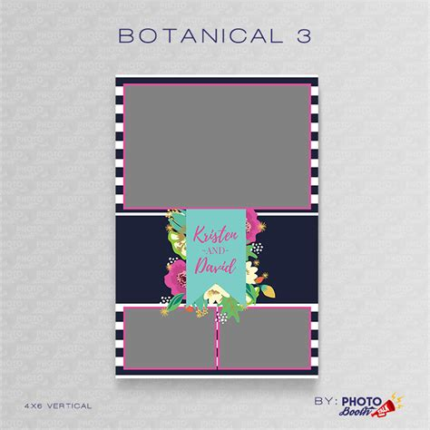 Botanical 3 Photoshop Psd Files Photo Booth Talk 4x6 Photo Booth Templates