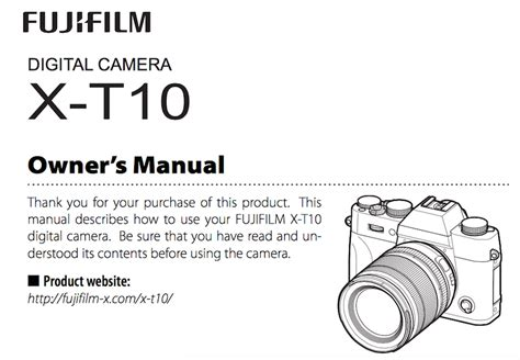 X T10 User fujifilm x t10 user s manual available daily
