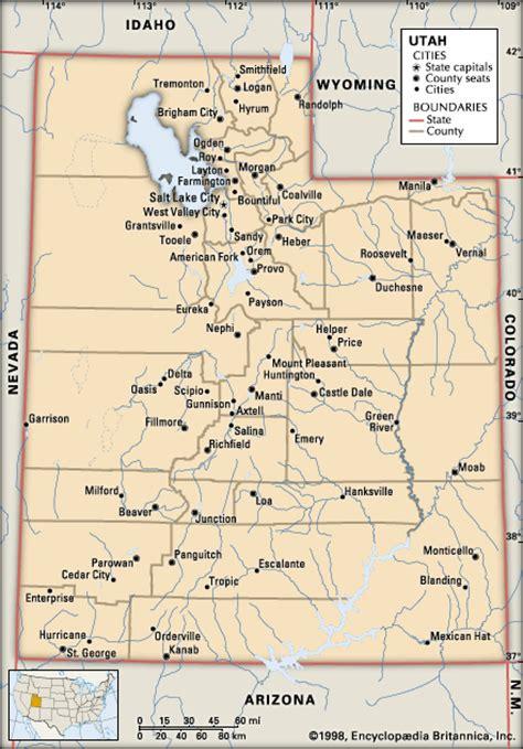 map of utah cities utah cities encyclopedia children s homework help dictionary britannica