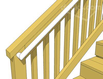 deck stair handrails deckscom