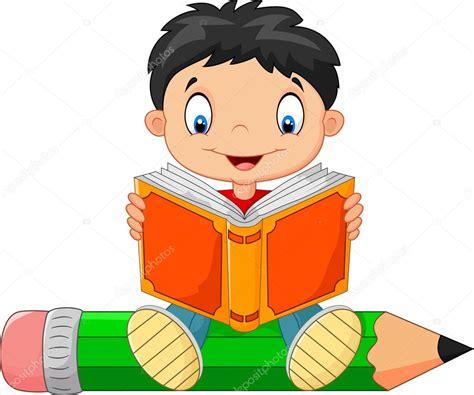 imagenes de niños jugando y leyendo ni 241 o leyendo un libro de dibujos animados vector de