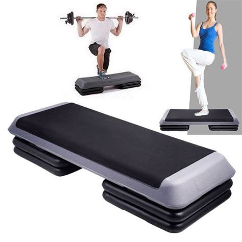 fitness step bench details about aerobic 3 stack level step fitness exercise