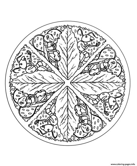 leaf mandala coloring page free mandala to color leaves coloring pages printable