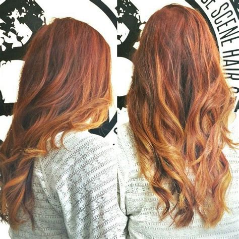 blonde and copper hairstyles copper ombre best hottest hair styles trends pinterest