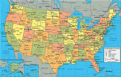 united states map with key cities us canada map with cities