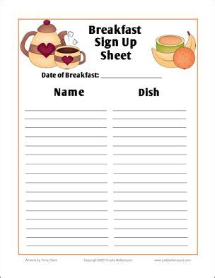 printable christmas sign up sheet breakfast sign up sheet free printable made2bcreative printables signs
