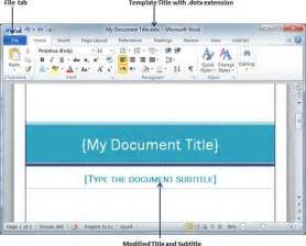 how to use a template in word 2010 use templates in word 2010