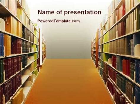 ppt templates free download library library book shelves powerpoint template by