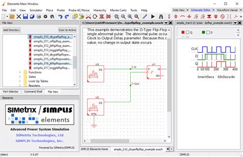 electronic circuit simulation software circuit and