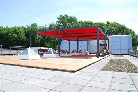 terrasse stahl terrassen unterkonstruktion aus stahl terrassendeck mit