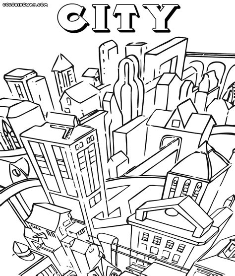 coloring book page of a city city coloring pages coloring pages to download and print