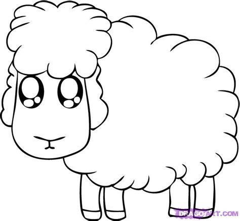 Draw A How To Draw A Cartoon Sheep Step By Step Cartoon Animals