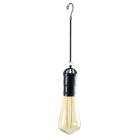 edison bulb hanging light hanging solar edison led tapered bulb black osw171158