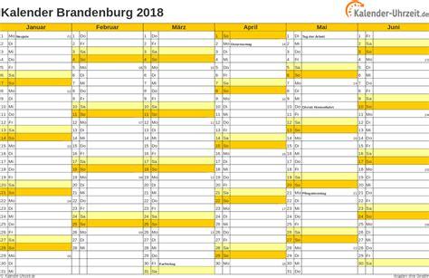 Kalender Brandenburg 2018 Feiertage 2018 Brandenburg Kalender