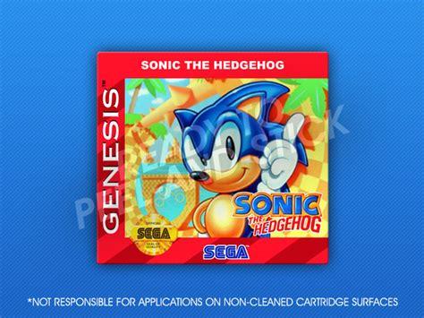 sonic the hedgehog sega genesis sega genesis sonic the hedgehog label retro cases