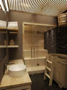 Is present on the second floor like this unique bathroom scheme