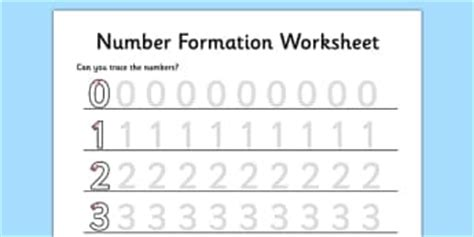 printable number line twinkle number formation teaching resources number writing page 1