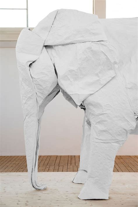 Origami With One Sheet Of Paper - a size origami elephant folded from a single sheet of
