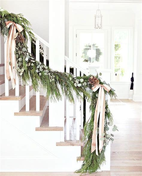 christmas banister garland best 25 pine garland ideas on pinterest christmas card
