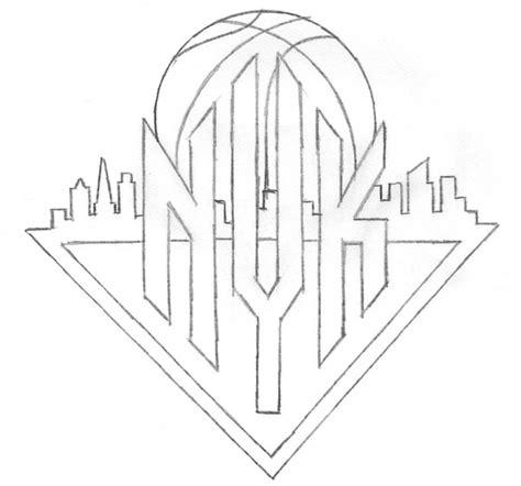 how to draw knicks logo
