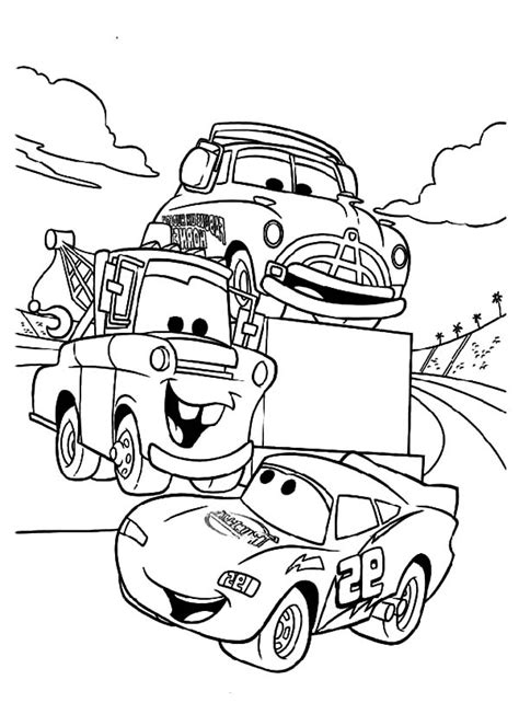 Free Coloring Pages Of Tow Mater Mater And Lightning Mcqueen Coloring Pages