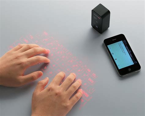 Proyektor Keyboard elecom launch laser projection keyboard for android and ios
