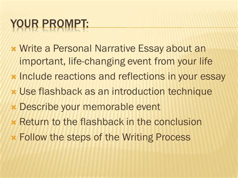 Introduction To A Narrative Essay by Characteristics Of Personal Narrative Ppt