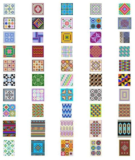 Free Printable Seed Bead Patterns   Bead Patterns, Loom Patterns, Mosaic Patterns, Geometric