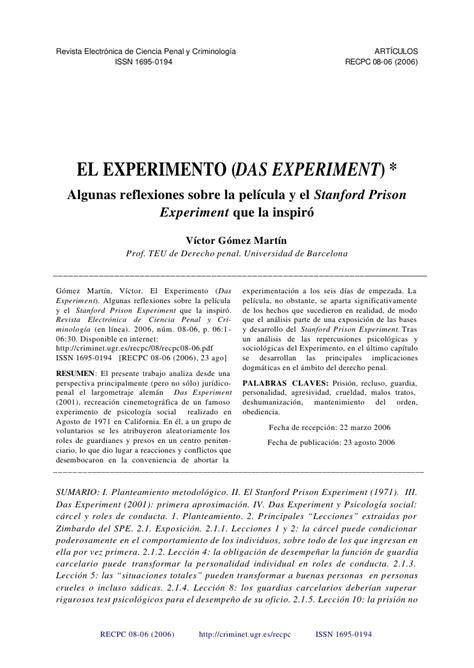 preguntas importantes sobre el bullying an 225 lisis de la pel 237 cula el experimento