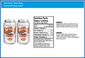 Mugs root beer nutrition facts
