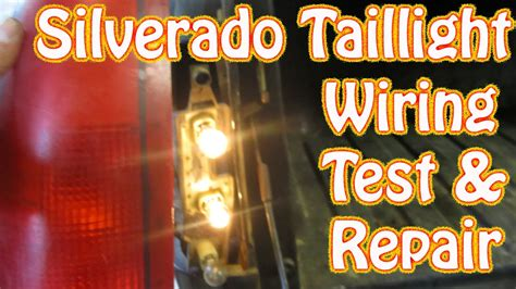 diy chevy silverado gmc sierra taillight repair