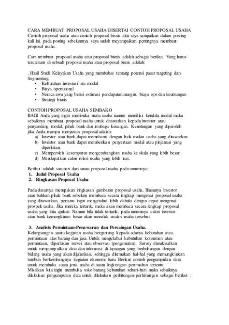 cara membuat jadwal kegiatan proposal cara membuat proposal usaha disertai contoh proposal usaha