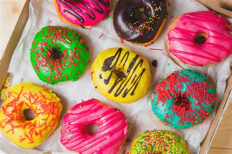 colorful donuts colorful donuts jigsaw puzzle in macro puzzles on