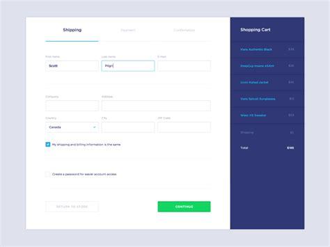 design form app http dribbble com shots 1484758 checkout process web
