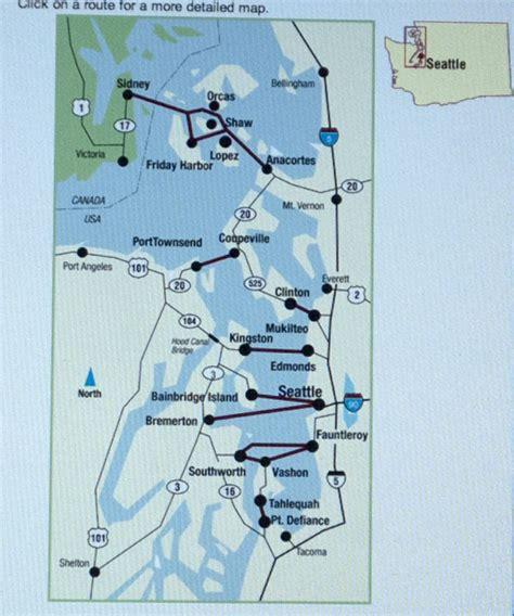 seattle map ferry ferry map washington state offbeat seattle
