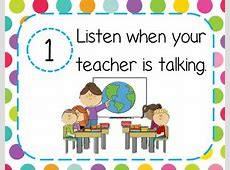 5 Essential Classroom Rules by PrettyPreschoolRooms   TpT Free Clipart For Teachers Pay Teachers