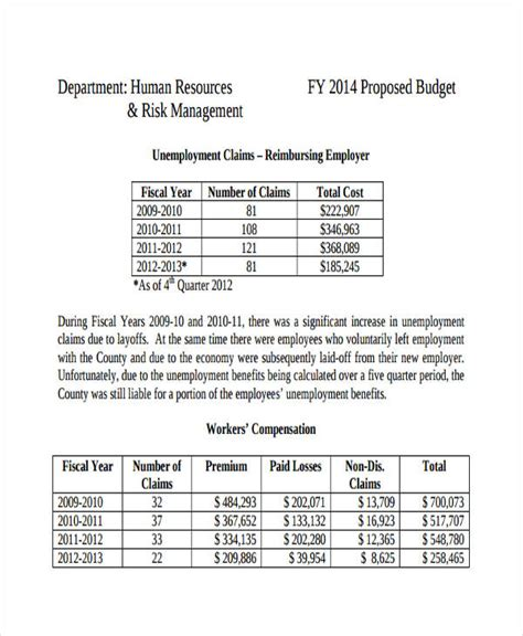 department budget template company budget templates free premium templates