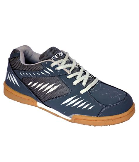 sports shoes for badminton feroc power badminton gray sports shoes price in india