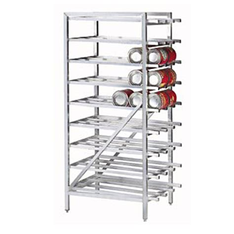 Can Rack Organizer by Advance Tabco Cr10 162 Stationary 10 Can Storage Rack