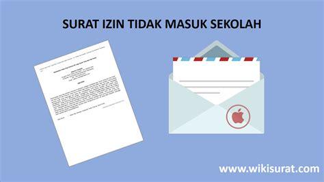 Contoh Surat Ijin Tidak Masuk Sekolah by Contoh Surat Izin Tidak Masuk Sekolah Cr7 Sins