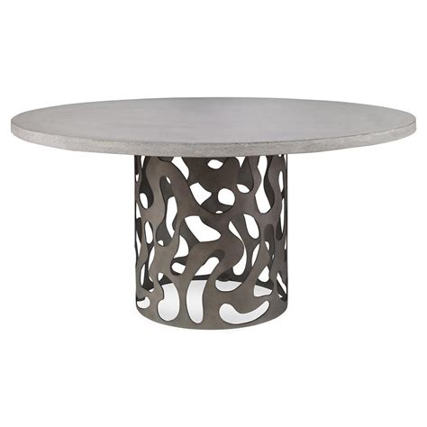 modern pedestal dining table alta industrial modern pedestal outdoor dining table